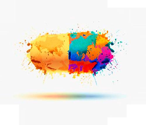 colorful capsule