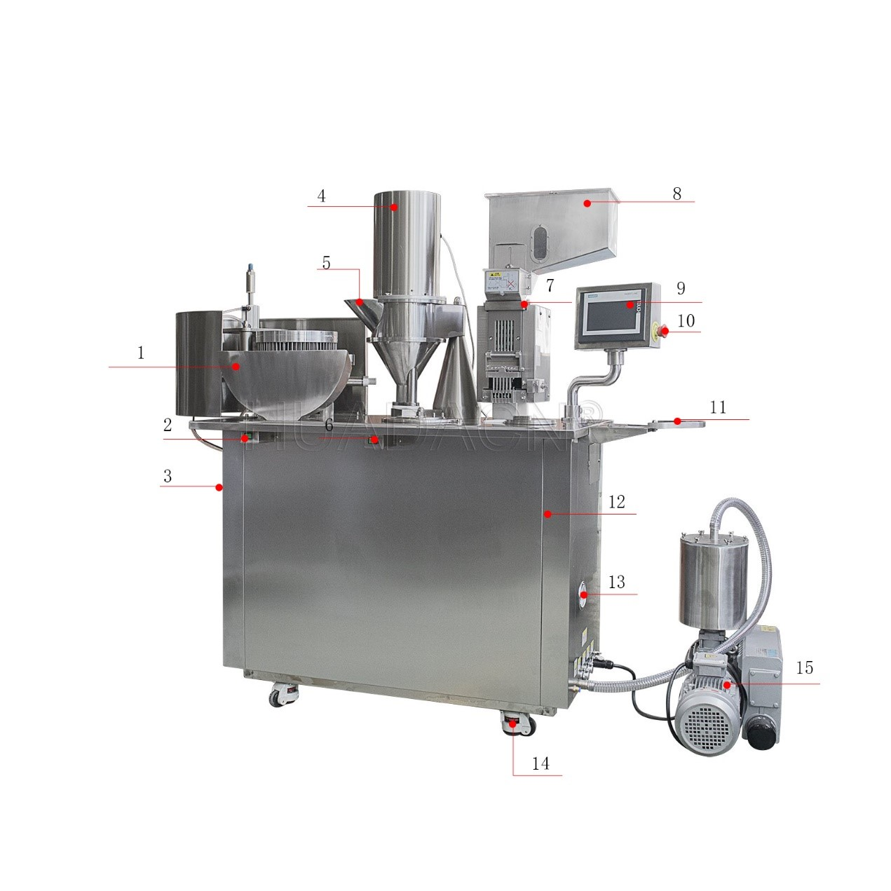 semi auto metal capsule filling machine