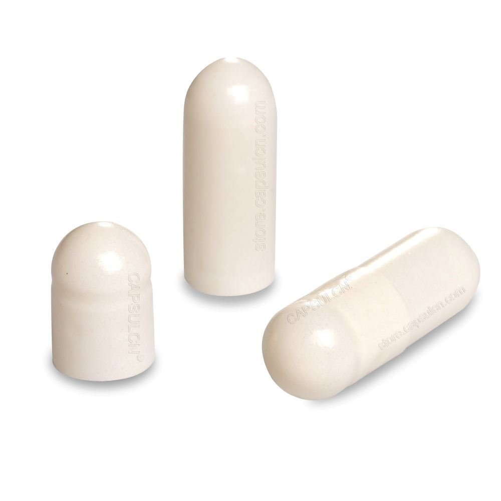 Picture of Size 0 white empty gelatin capsules