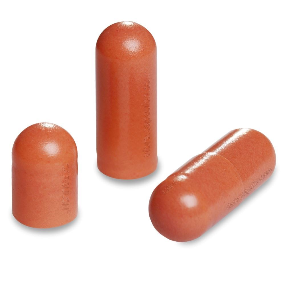 Picture of Size 3 light pink empty gelatin capsules
