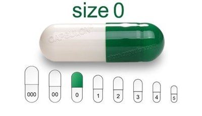 Picture for category Size 0  gelatin capsules