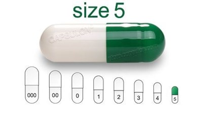 Picture for category Size 5  gelatin capsules