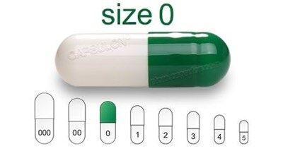 Bild für Kategorie Size 0  vegetarian capsules