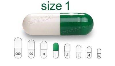 Bild für Kategorie Size 1  vegetarian capsules