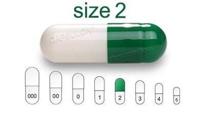 Bild für Kategorie Size 2  vegetarian capsules