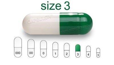 Bild für Kategorie Size 3  vegetarian capsules