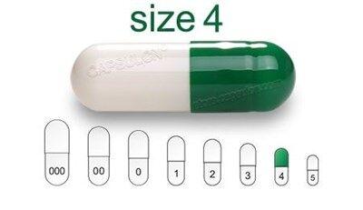 Bild für Kategorie Size 4  vegetarian capsules