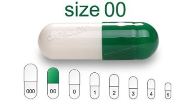 Picture for category Size 00 enteric capsules