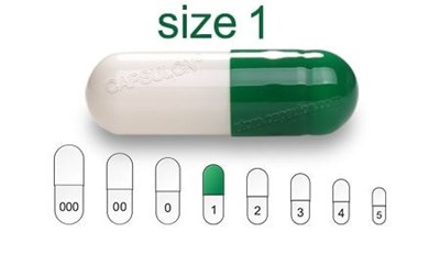 Picture for category Size 1 enteric capsules