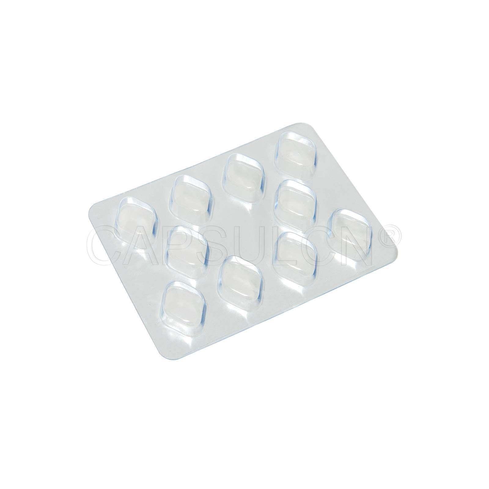 Bild von Größe 0 Kapsel Blister Packungsbogen mit 10 Löchern