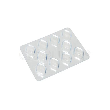 Picture of 19mm Rhombic Tablet Blister Packing Sheet with 10 holes